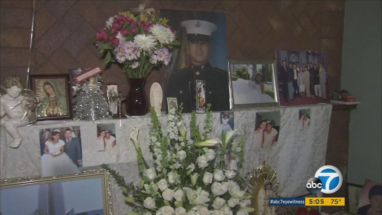 Maria and Fidencio Tinoco lost two children in a car crash in Fullerton Feb. 28. More than a decade ago, their oldest son was killed in Iraq.