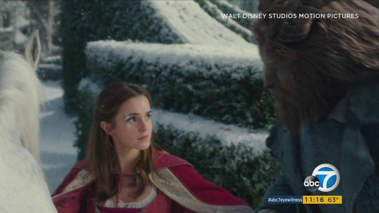 Emma Watson is shown as Belle in the live action Disney movie Beauty and the Beast.