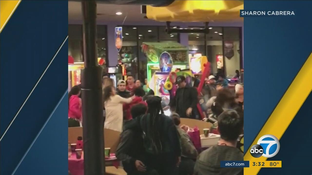 Two confrontations at a Chuck E. Cheeses in San Bernardino County have turned violent in the past week