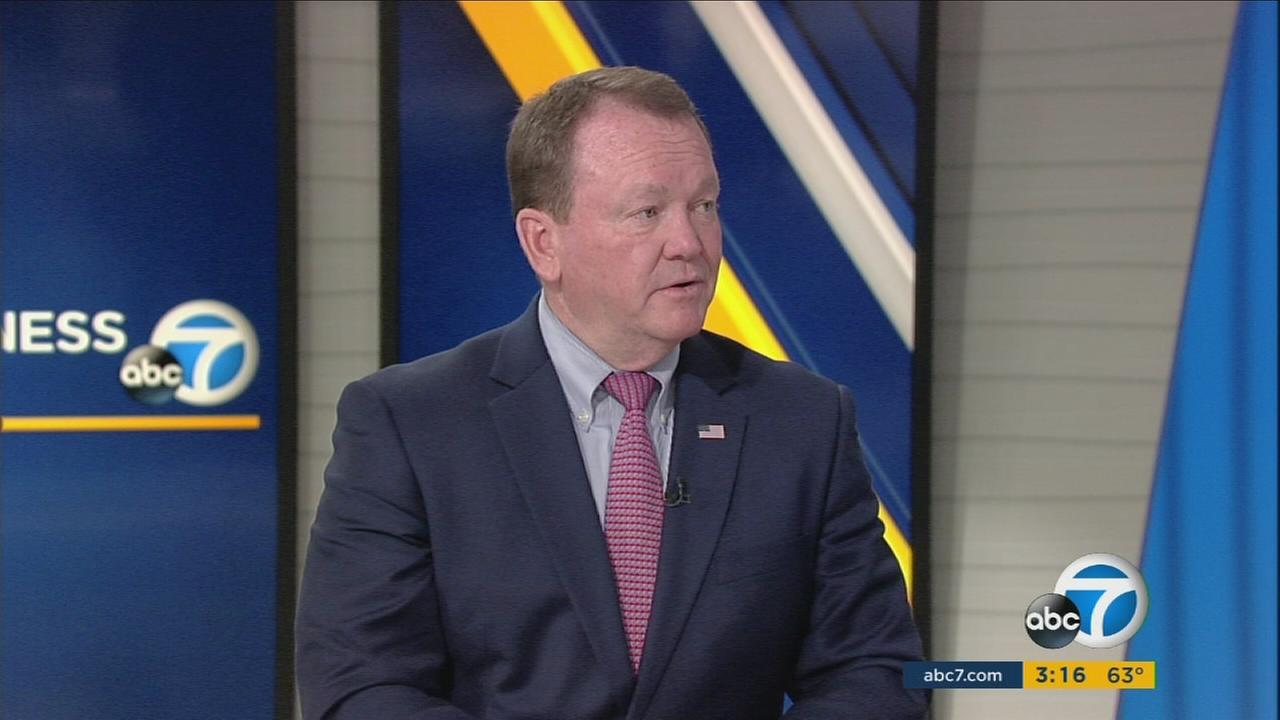 Los Angeles County Sheriff Jim McDonnell is shown during an interview on ABC7 on Monday, March 6, 2017.