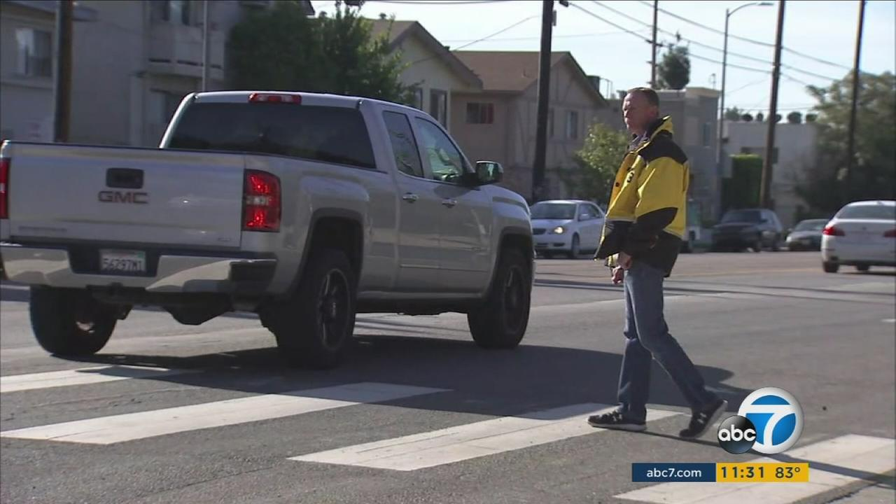 The LAPD is stepping up enforcement efforts of crosswalk laws after a major spike in pedestrian fatalities in 2017.