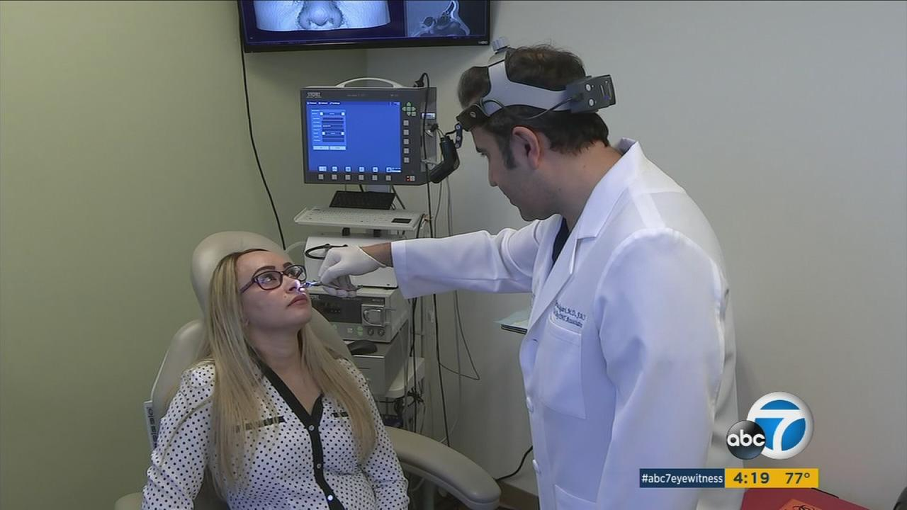 A Marina del Rey resident is shown being examined and diagnosed with chronic sinusitis.