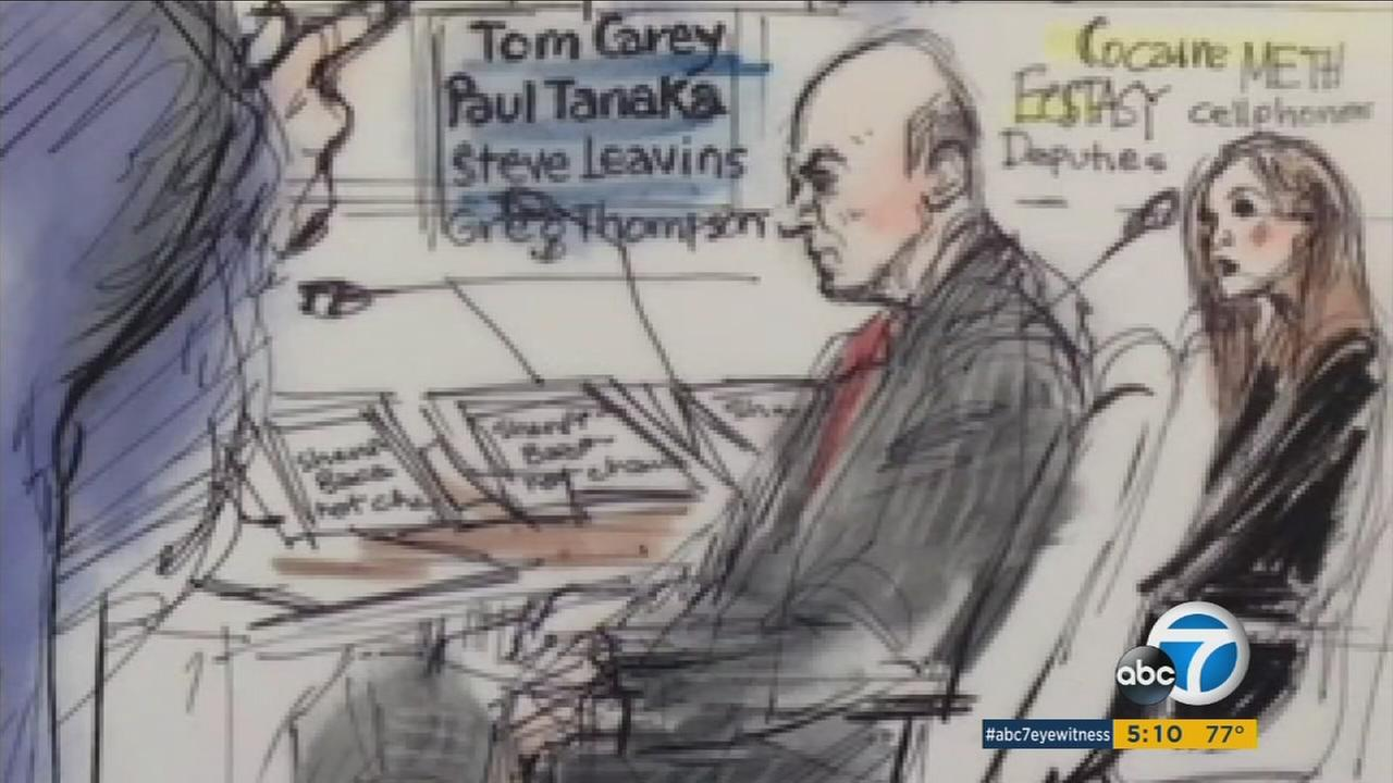 Ex-Sheriff Lee Baca is shown in a court sketch on Monday, March 13, 2017.