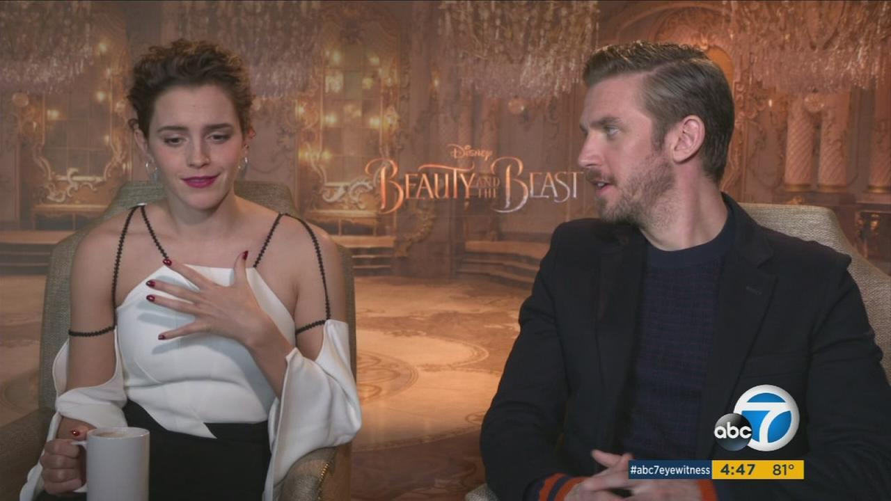 Emma Watson and Dan Stevens, stars of the new live-action Beauty and the Beast, hope moviegoers are inspired to sing and dance in the streets after seeing the film.