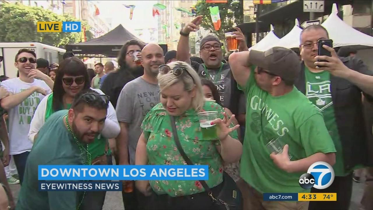 The LAPD will open seven DUI checkpoints over the St. Patricks Day holiday weekend.