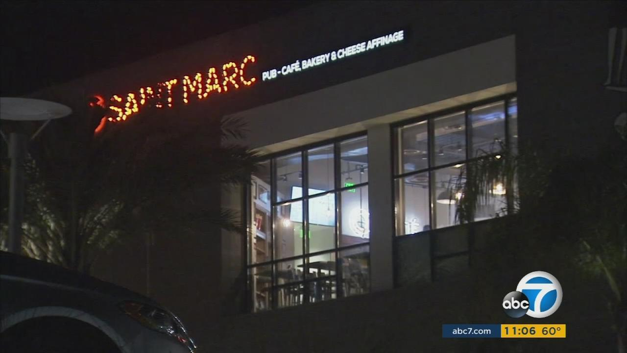 A waiter at the Saint Marc pub-cafe in Huntington Beach was fired after asking diners for proof of residency.