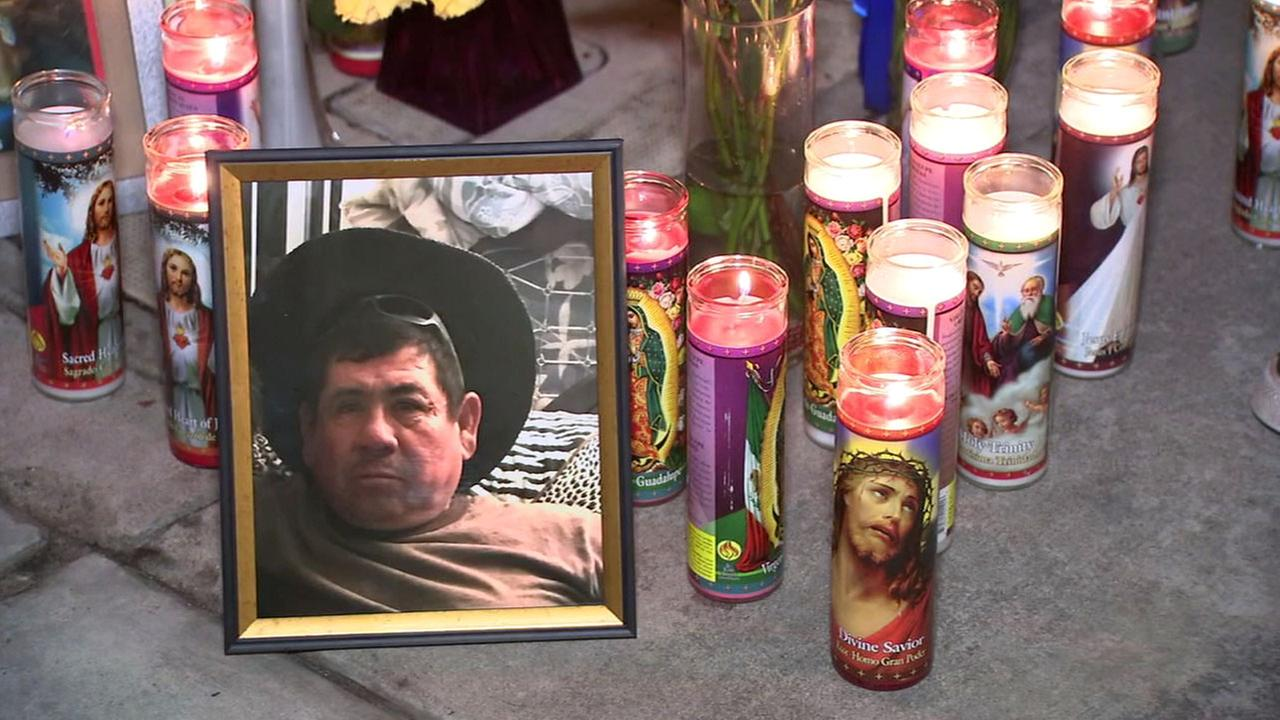 Encarcion Salazar Munoz, 52, is shown in a photo at a memorial spot during a vigil for him in Anaheim on Sunday, March 19, 2017.
