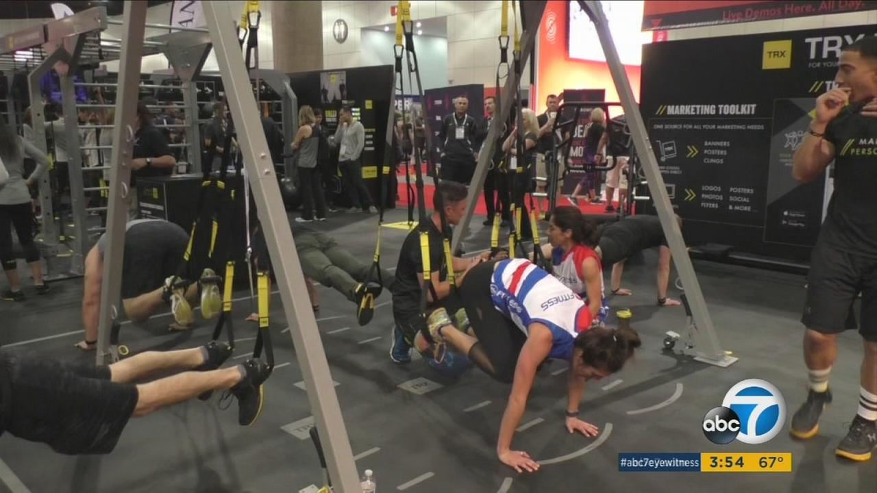 At a fitness convention in Los Angeles, TRX unveiled new training equipment and technology.