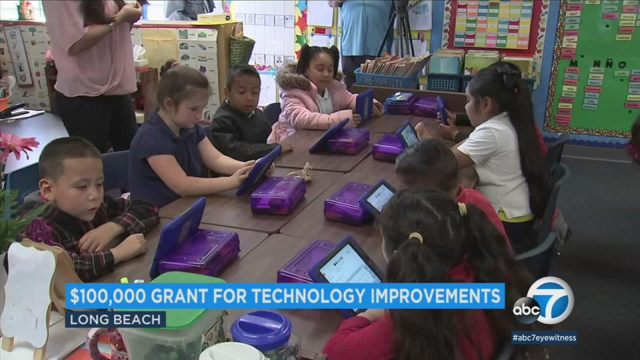 Lafayette Elementary School purchased more than 200 iPads and Google Chromebooks after receiving a $100,000 grant from Farmers Insurance in 2015.