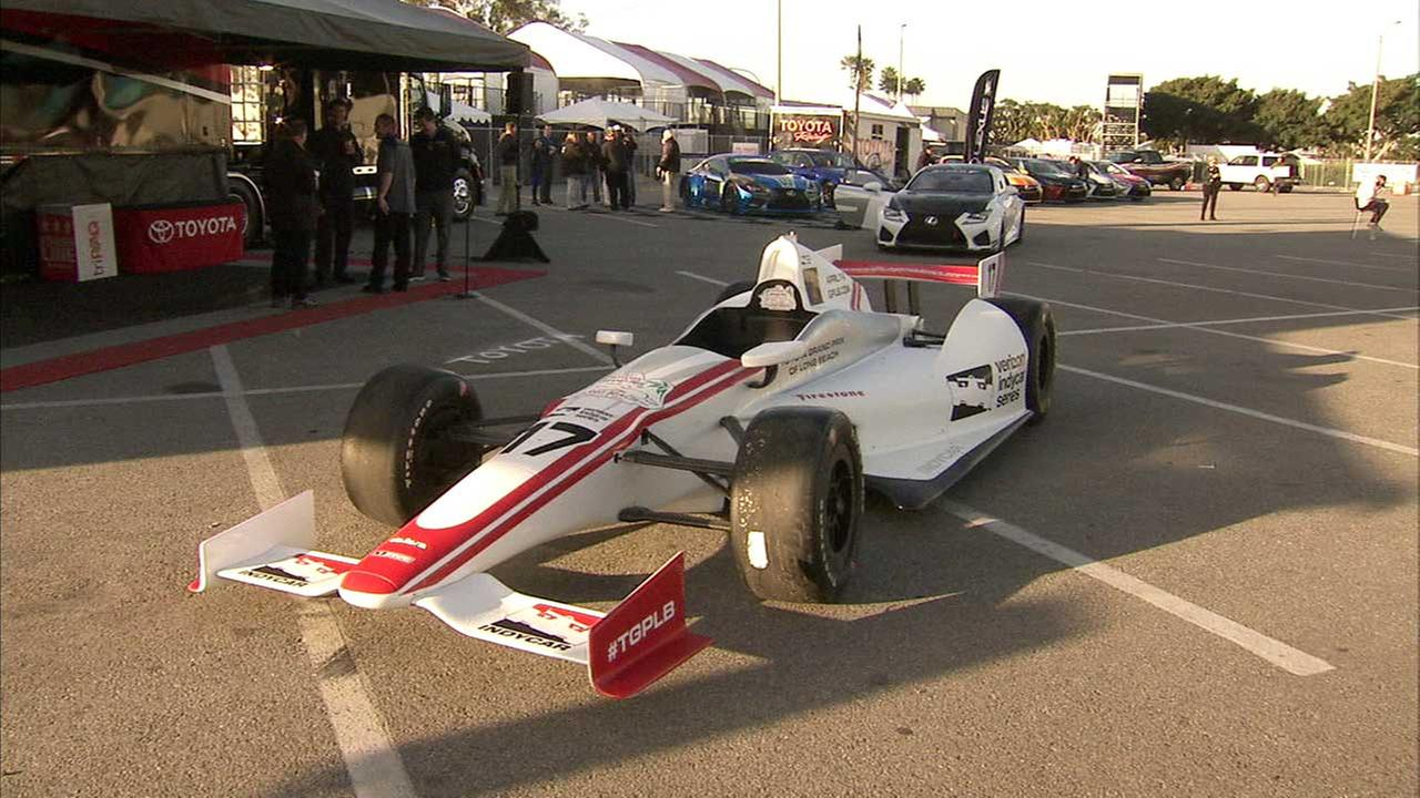 A vehicle is seen at the site of the 43rd Toyota Grand Prix of Long Beach.