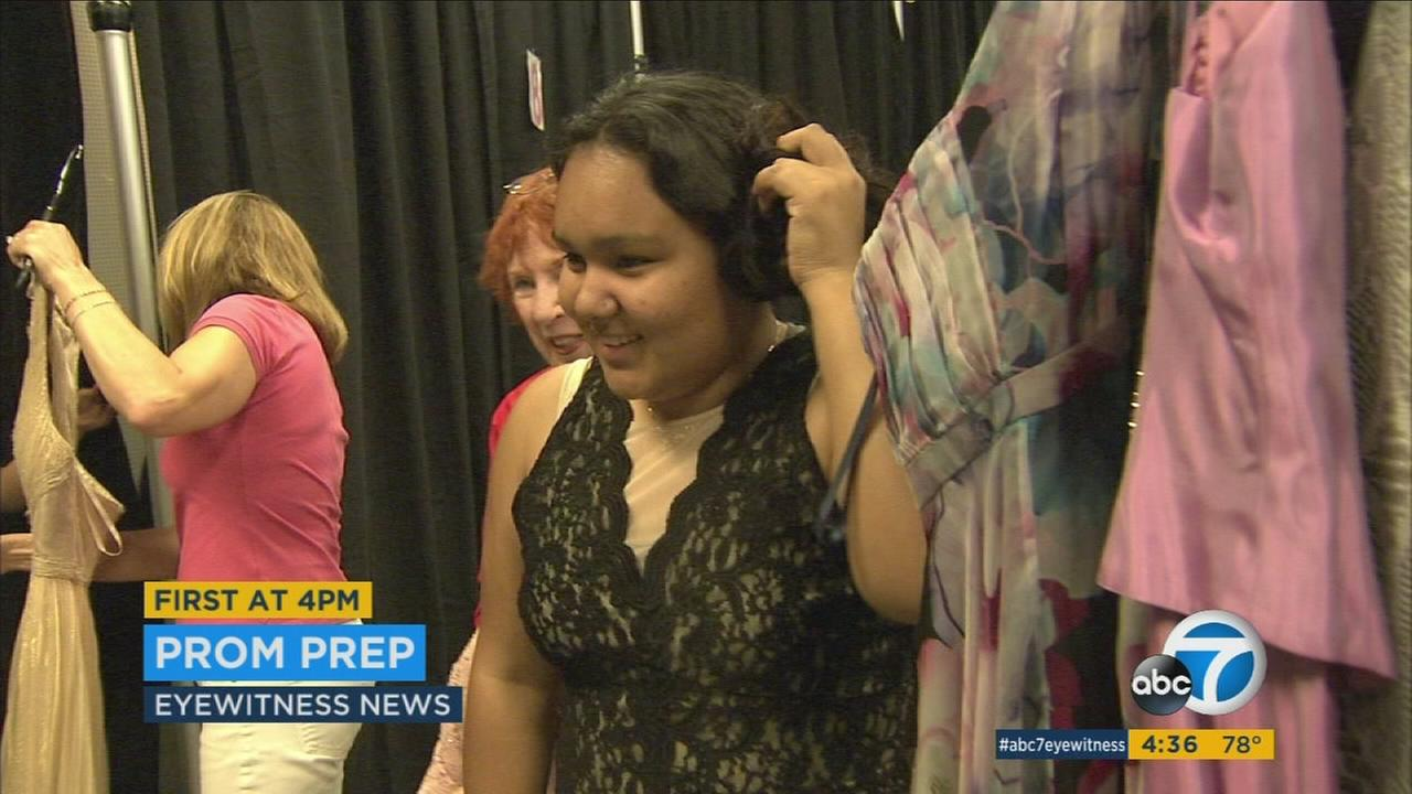 Expensive gowns can preclude some teens from attending their proms, but thanks to dress donations, many Los Angeles girls will have the night of their dreams.