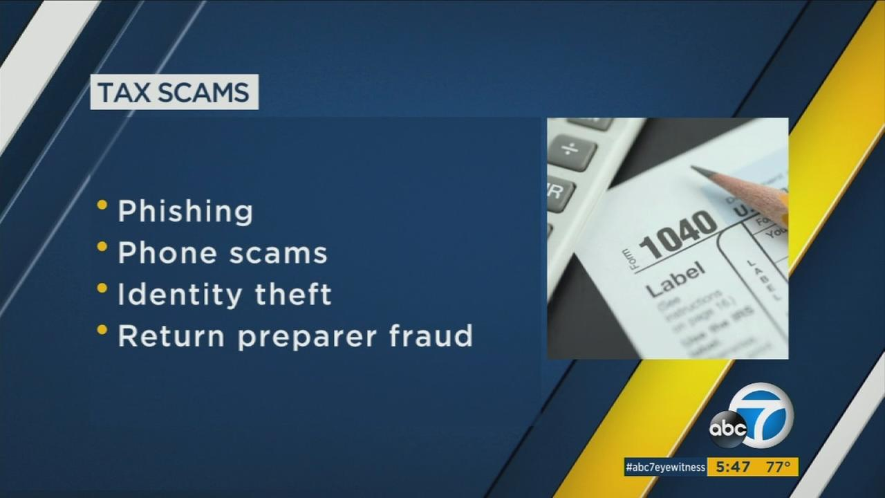 A list, provided by the IRS, of ways tax scammers target victims around tax season.