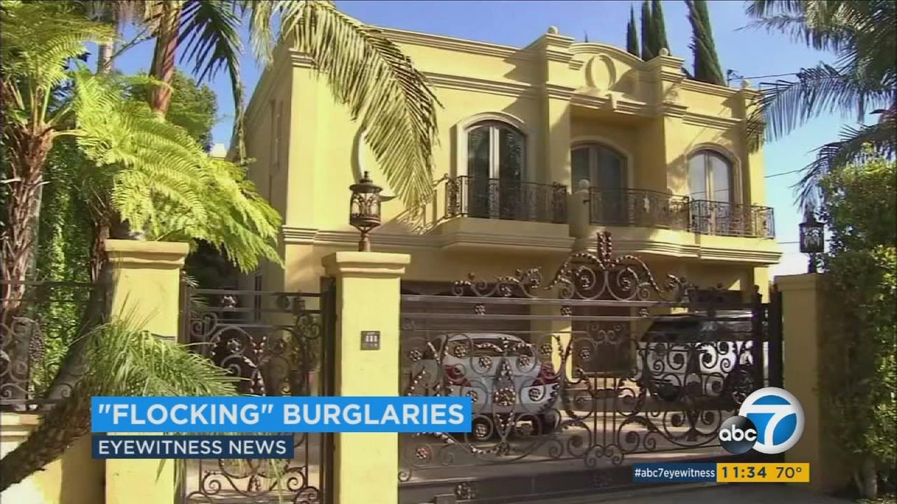 Police say 1 gang likely flocking celebrity homes in LA