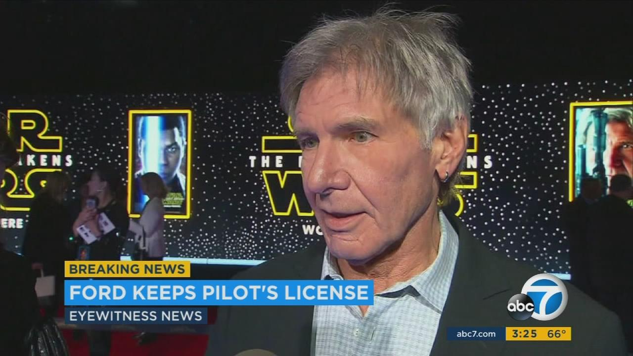 The Star Wars actor landed on a busy taxiway at John Wayne Airport in Orange County in February after a close call with a 737.