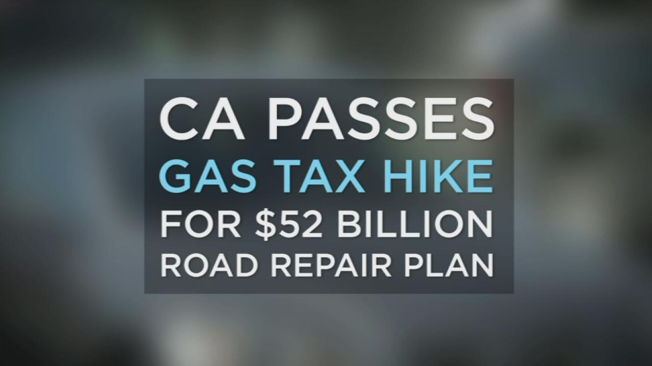The California Legislature passed a $52 billion road repair plan which includes a 12 cent gas tax hike.