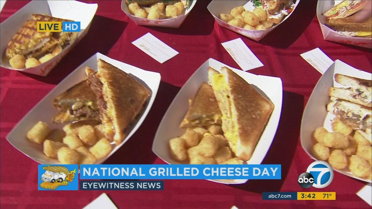 Grilled cheese sandwiches from the Grilled Cheese Truck at the ABC7 studios on Wednesday, April 12, 2017.