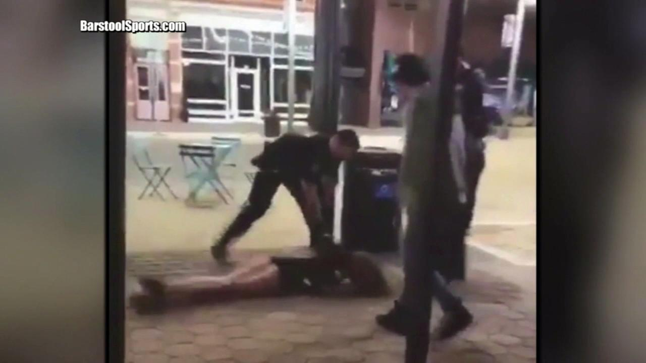 Video showed 22-year-old Michaella Surat, a student at Colorado State University, being thrown face-first to the sidewalk during a scuffle with police in Fort Collins, Colorado.