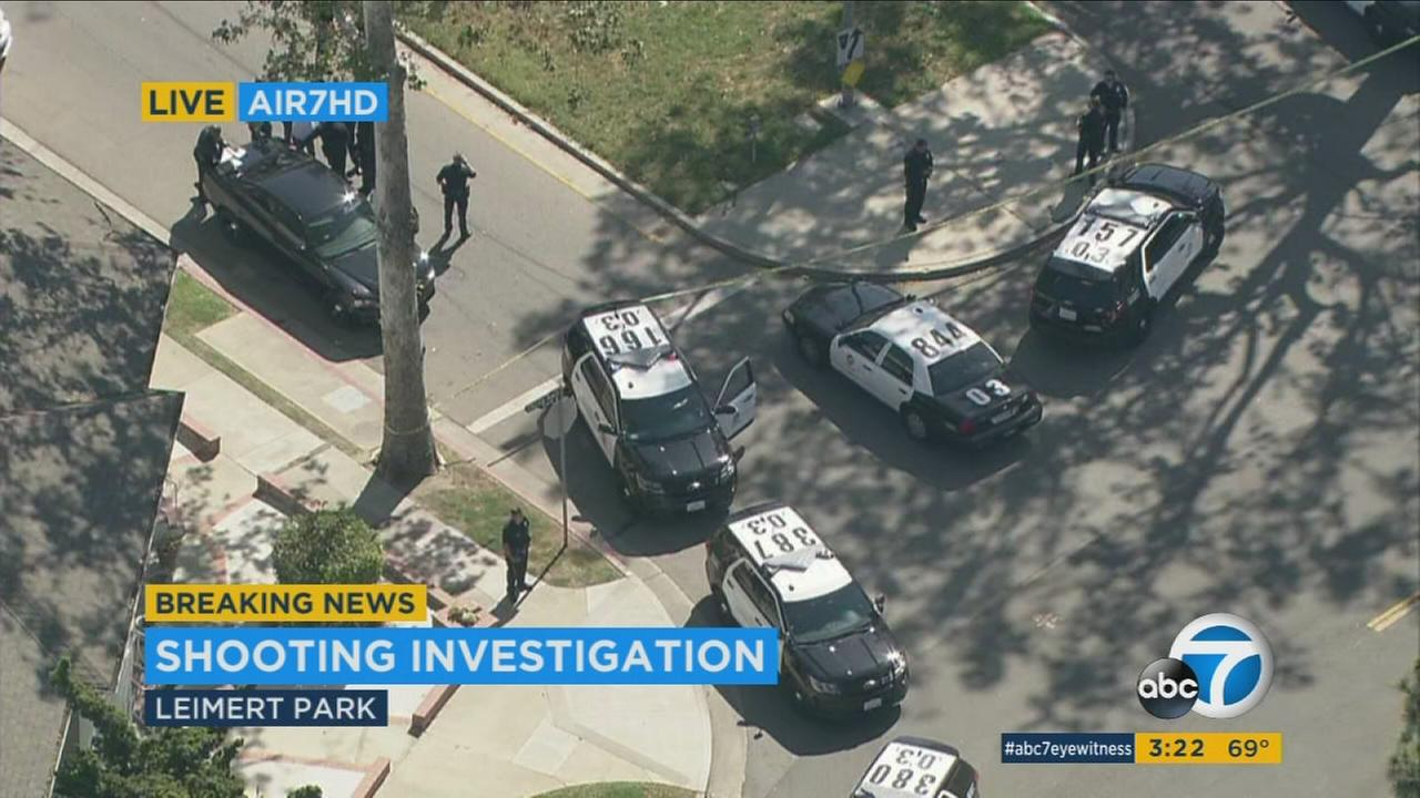 A 25-year-old man was killed Wednesday after being shot twice in the chest in the Leimert Park neighborhood of Los Angeles.
