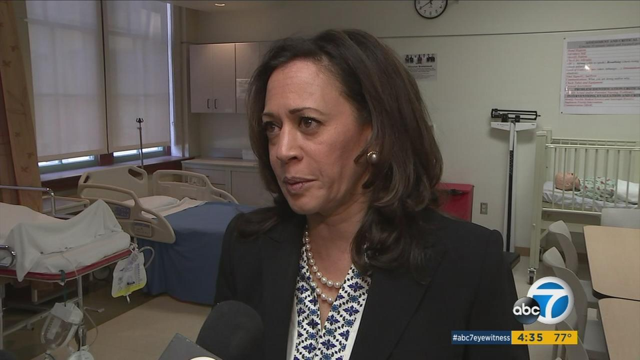 Sen. Kamala Harris visited Los Angeles Trade Technical College, one of many programs that are facing potentially steep federal budget cuts under the Trump administration.