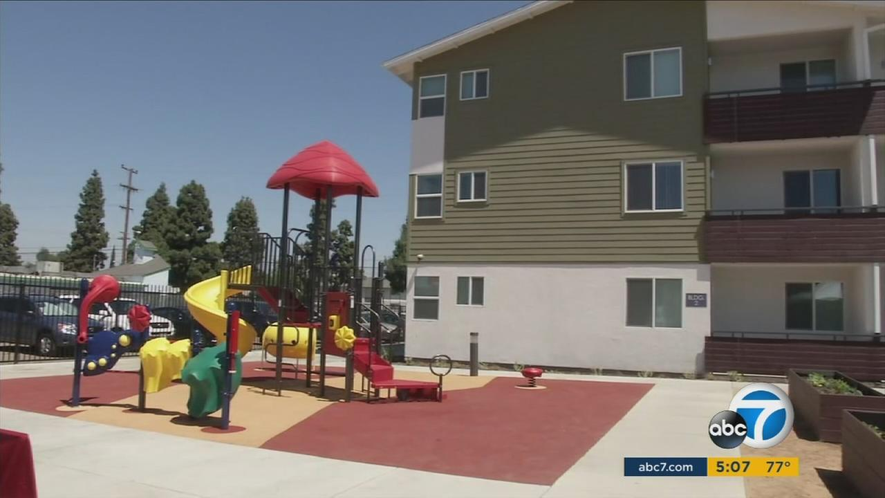 An affordable housing complex in Willowbrook is shown during its grand opening on Thursday, April 20, 2017.