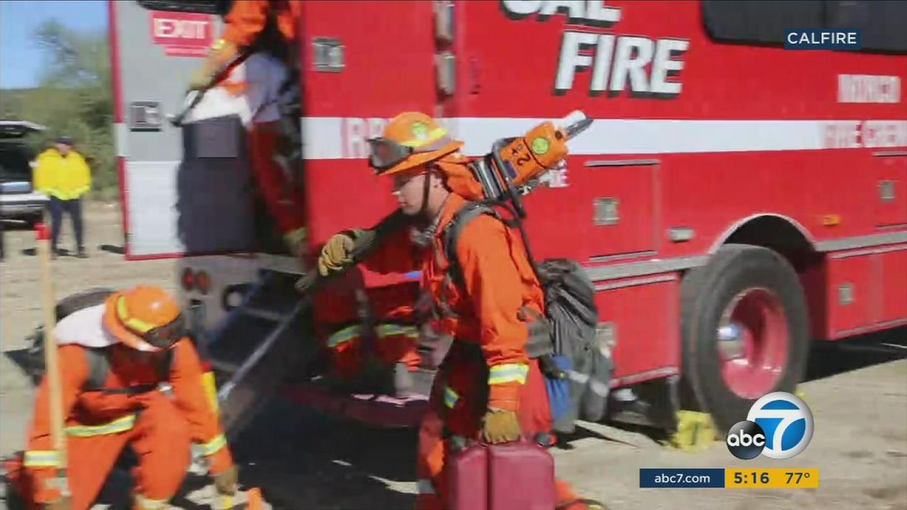 Seventeen inmate hand crews are training this week in a remote area near Anza as Californias wildfire season quickly approaches.