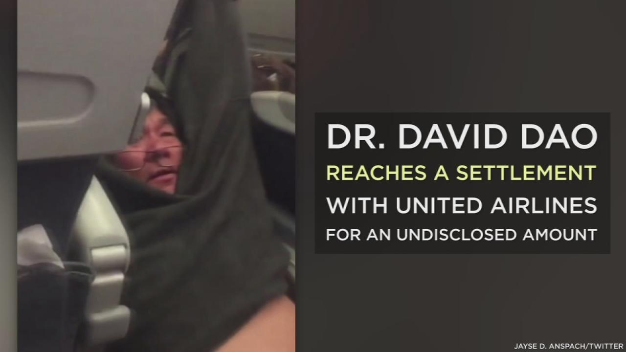 Dr. David Dao, who was dragged off a United Airlines flight to Louisville when he refused to give up his seat for crew members, has reached a settlement with the airline for his injures, his attorney said.