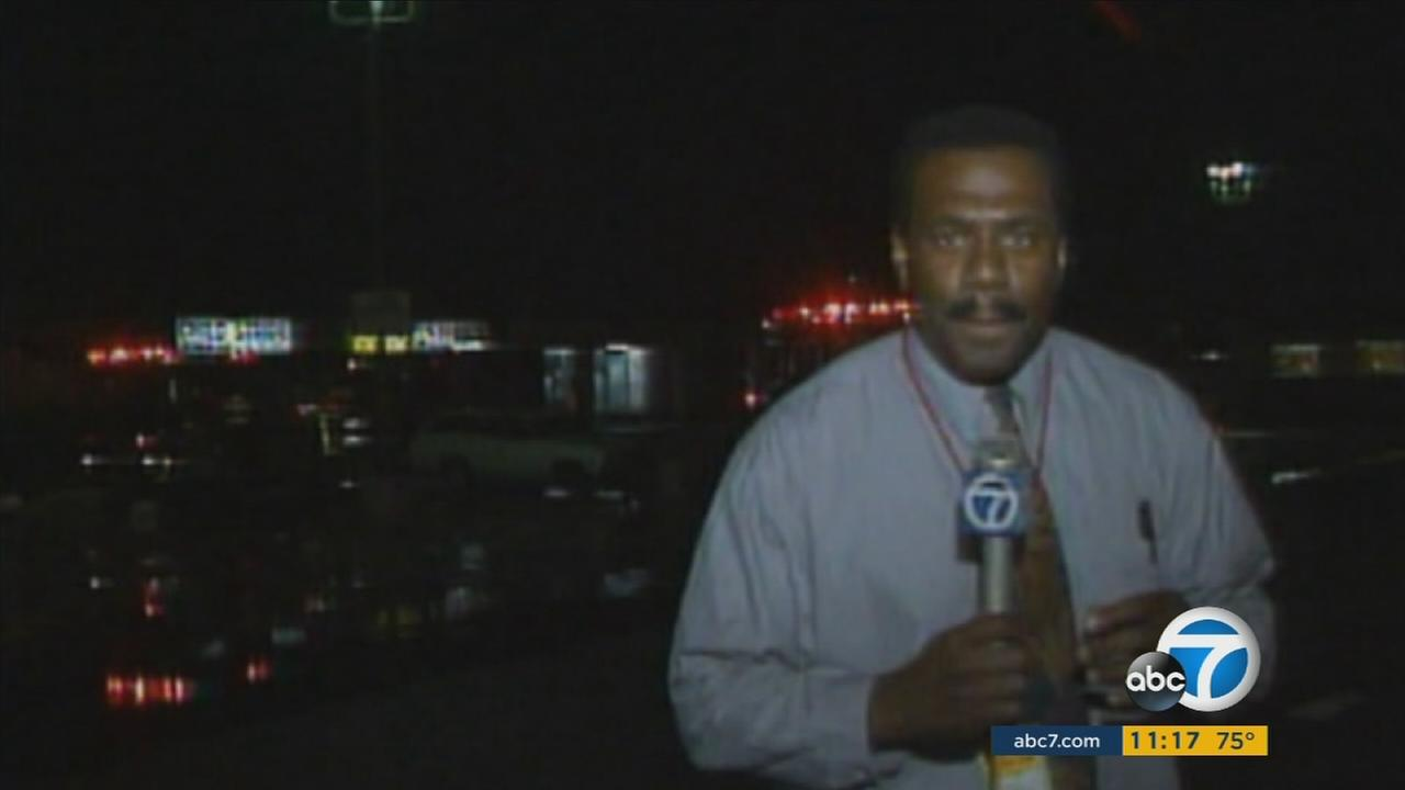 Marc Brown is seen covering the L.A. riots for ABC7 in 1992.