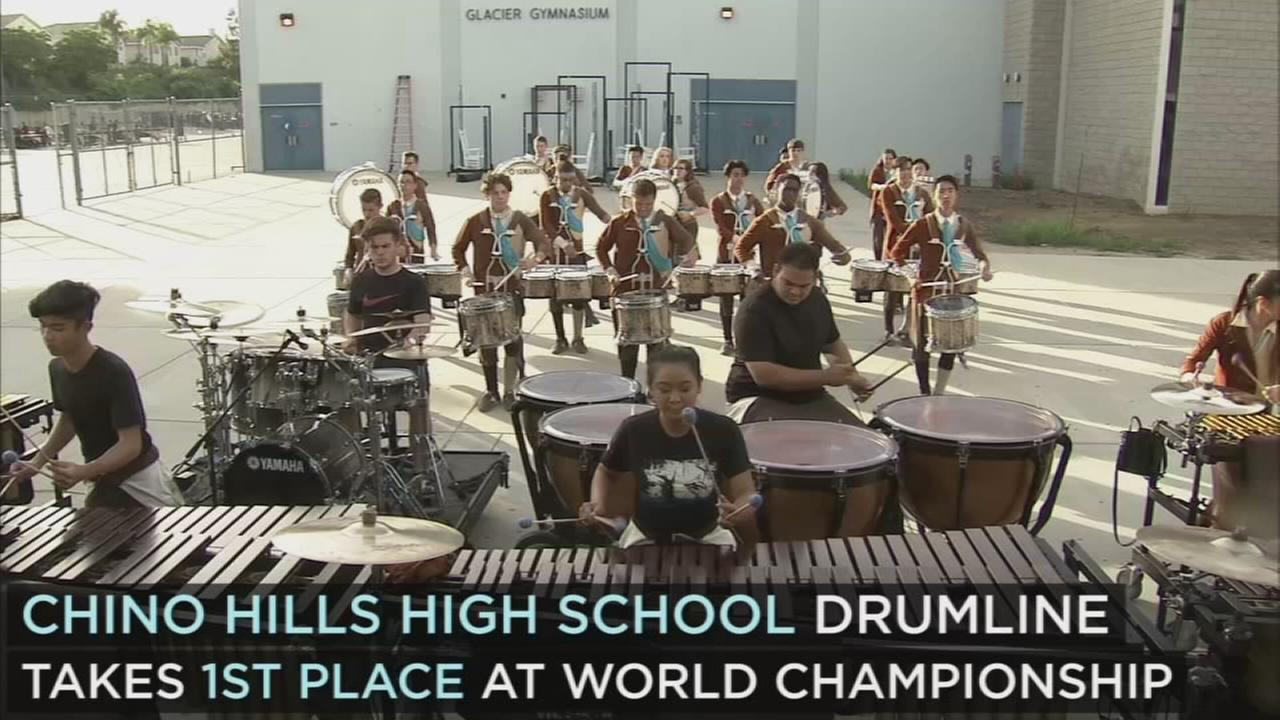 Chino Hills Hs Drumline Takes First Place At World Championship 1 Set Drum Band