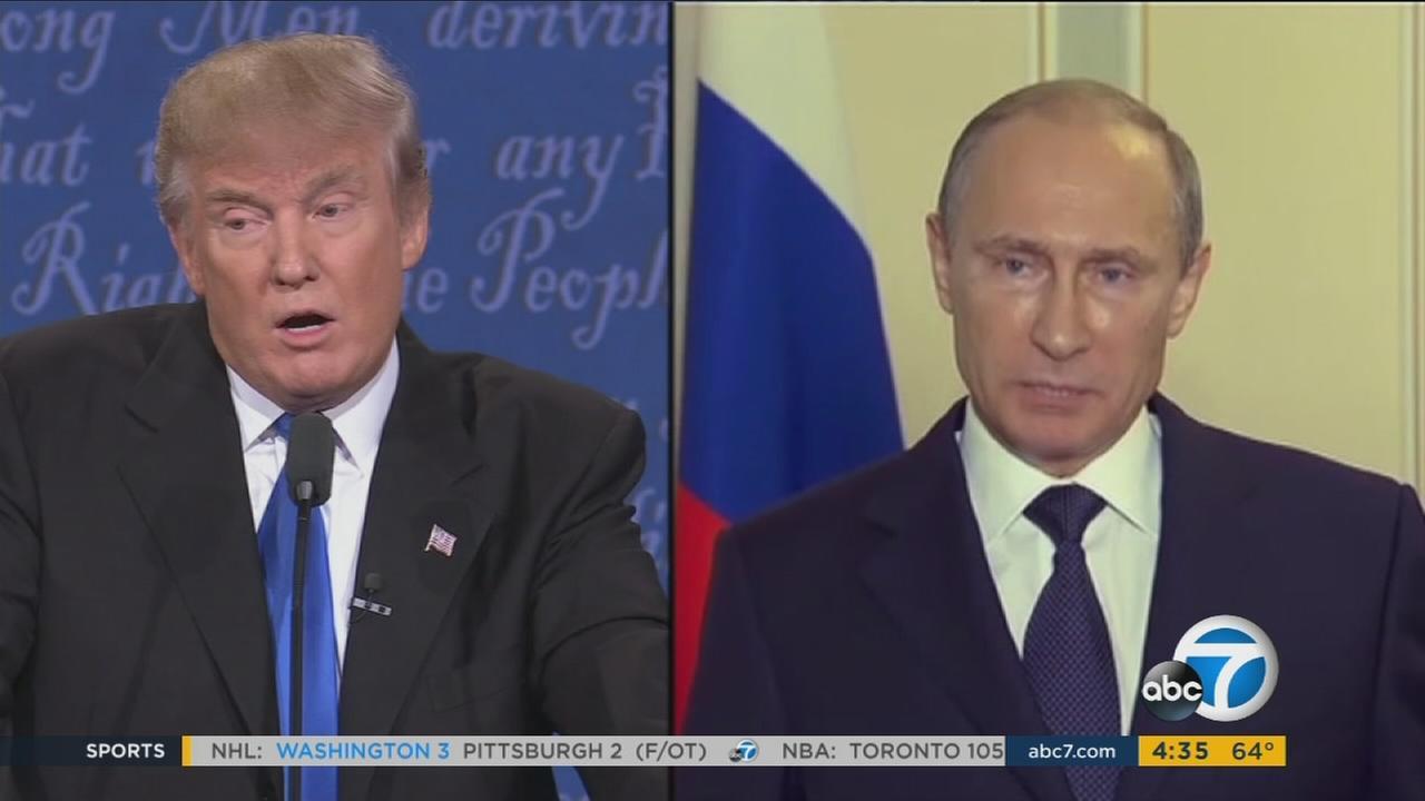 An undated photo of President Donald Trump and Vladimir Putin.