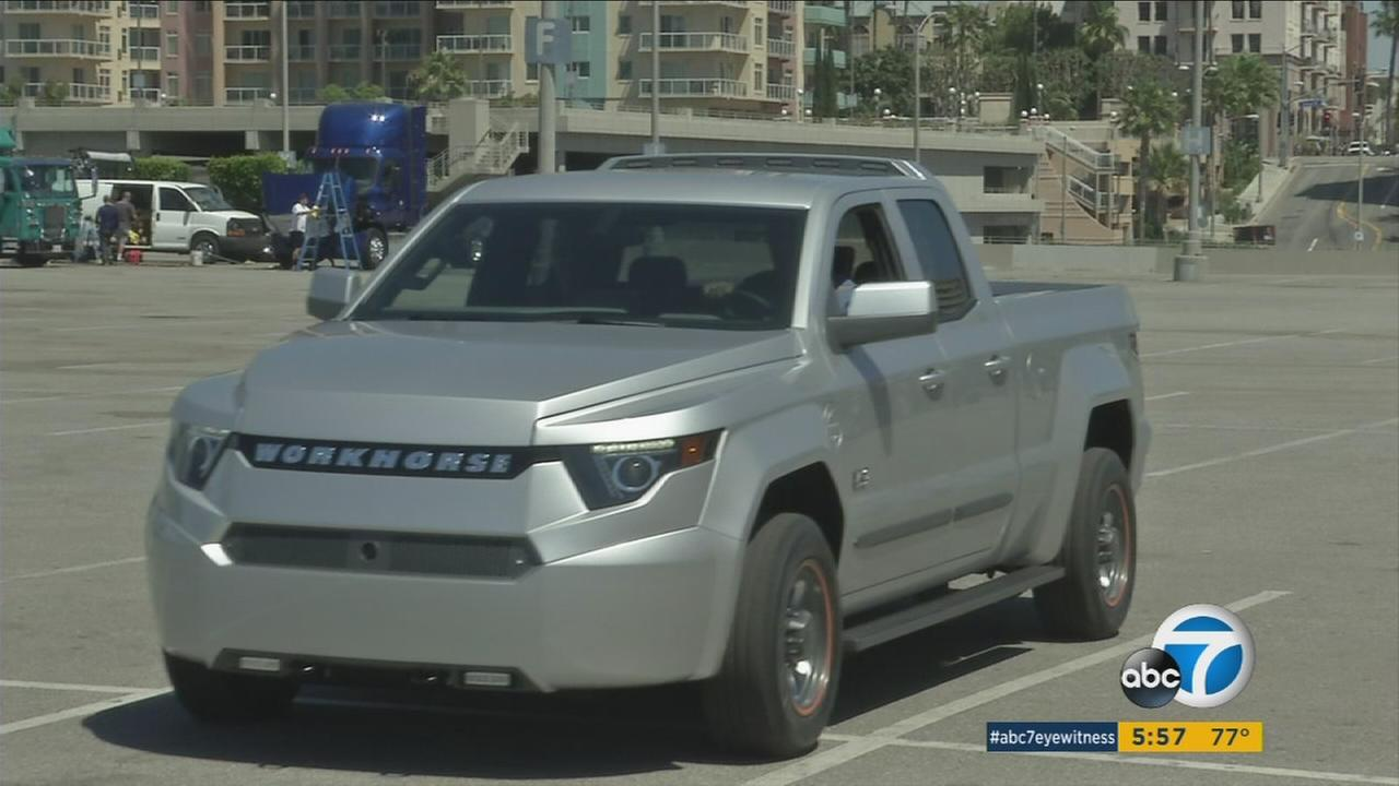 Workhorse introduced the W-15 electric pickup truck during a commercial vehicle trade show in Long Beach.