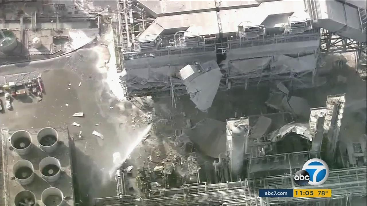 The refinery in Torrance is seen following an explosion in 2015.