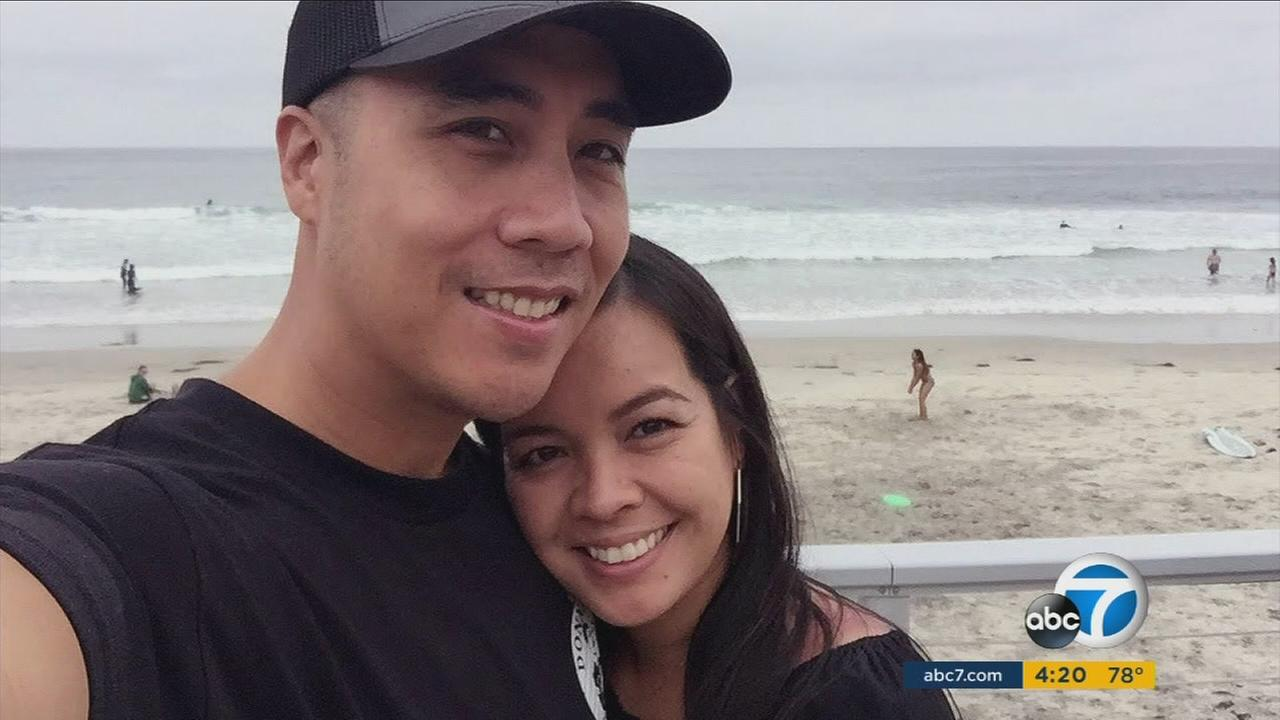 Matthew Medina (left), a seven-year veteran with the LAPD, is in desperate need of a bone marrow match of Filipino decent.