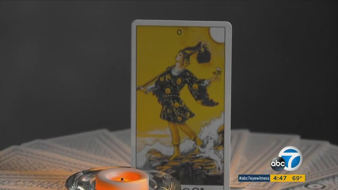 A tarot card is shown in a photo.