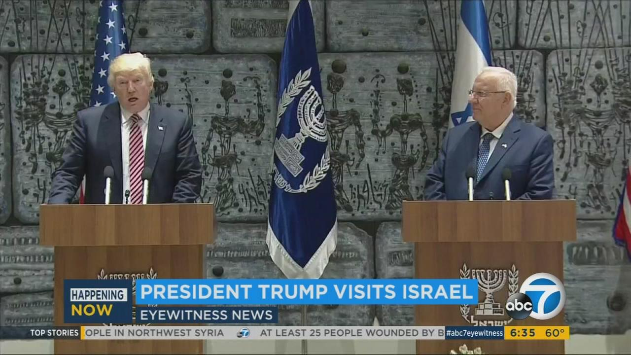 Donald Trump during his visit in Israel on Monday, May 22, 2017.