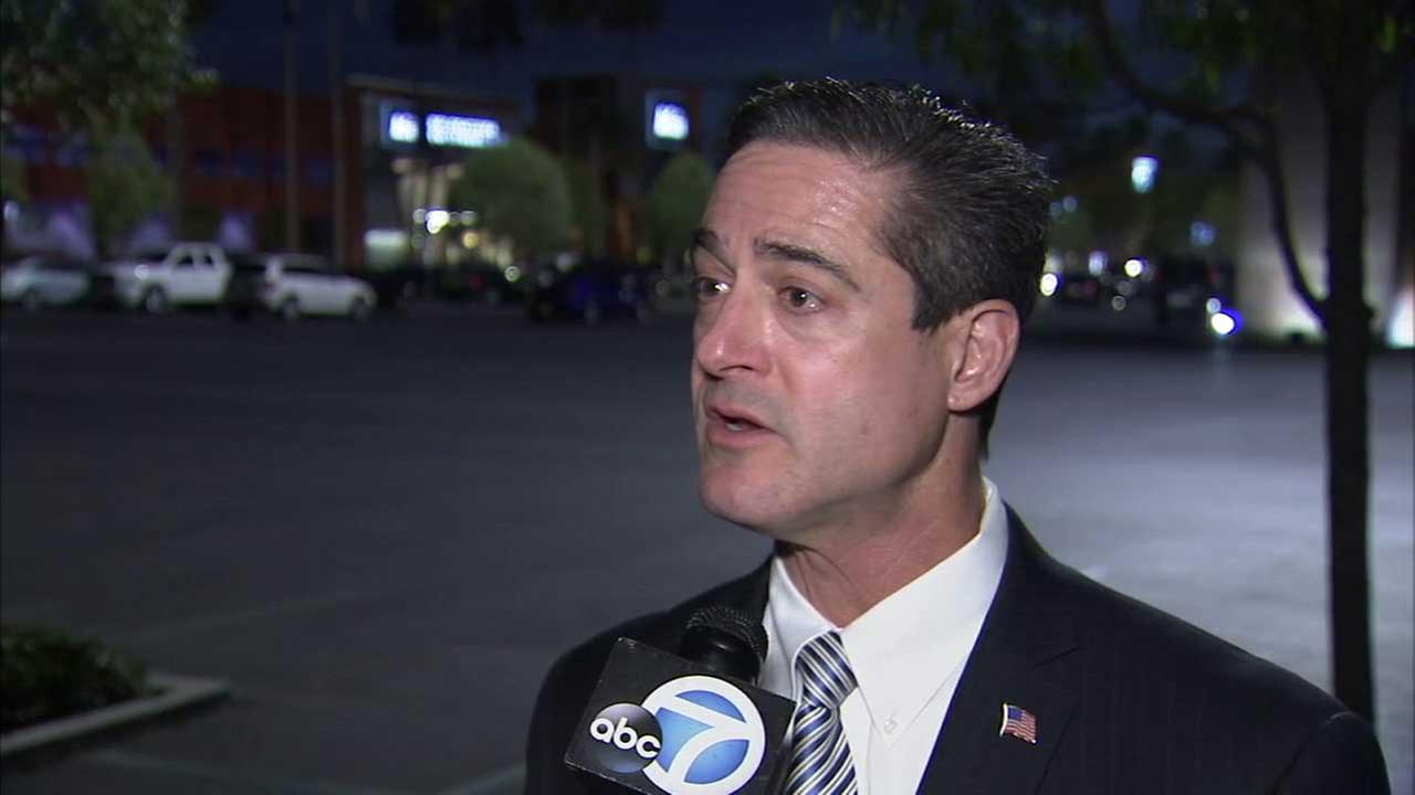 Orange County Supervisor Todd Spitzer speaks to Eyewitness News in this undated photo.