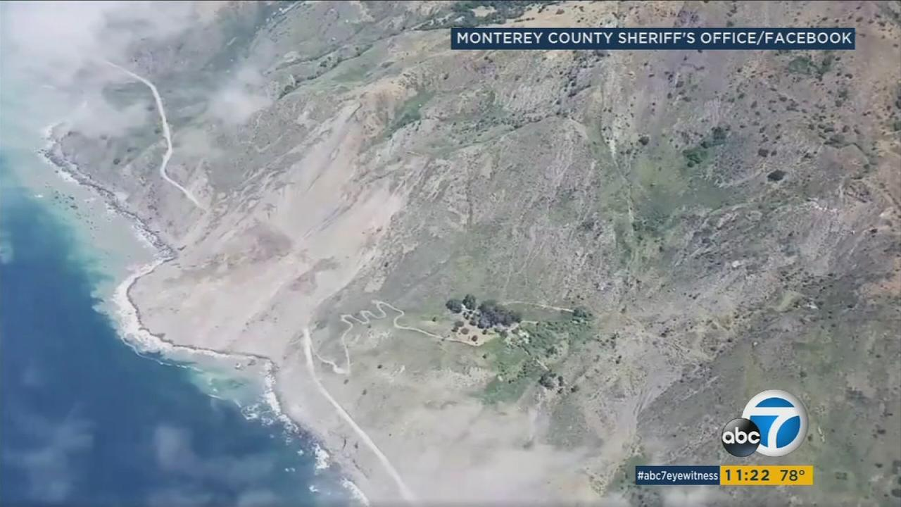 The Monterey County Sheriffs Office released aerial footage of a massive landslide in Big Sur.