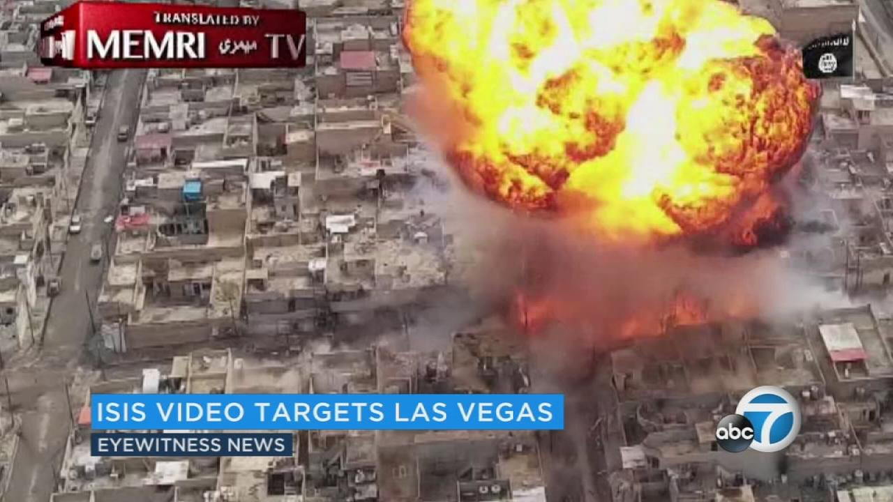 This still image from an ISIS propaganda video shows an explosion.