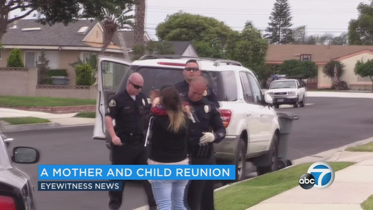 Anaheim police said they have recovered a stolen vehicle with a 2-year-old child inside. The child is safe, according to police.
