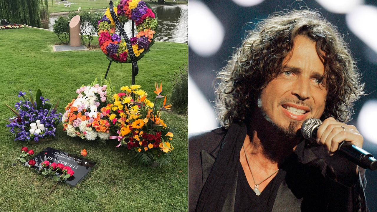 Singer Chris Cornell was laid to rest at Hollywood Forever Cemetery on Friday, May 26, 2017.