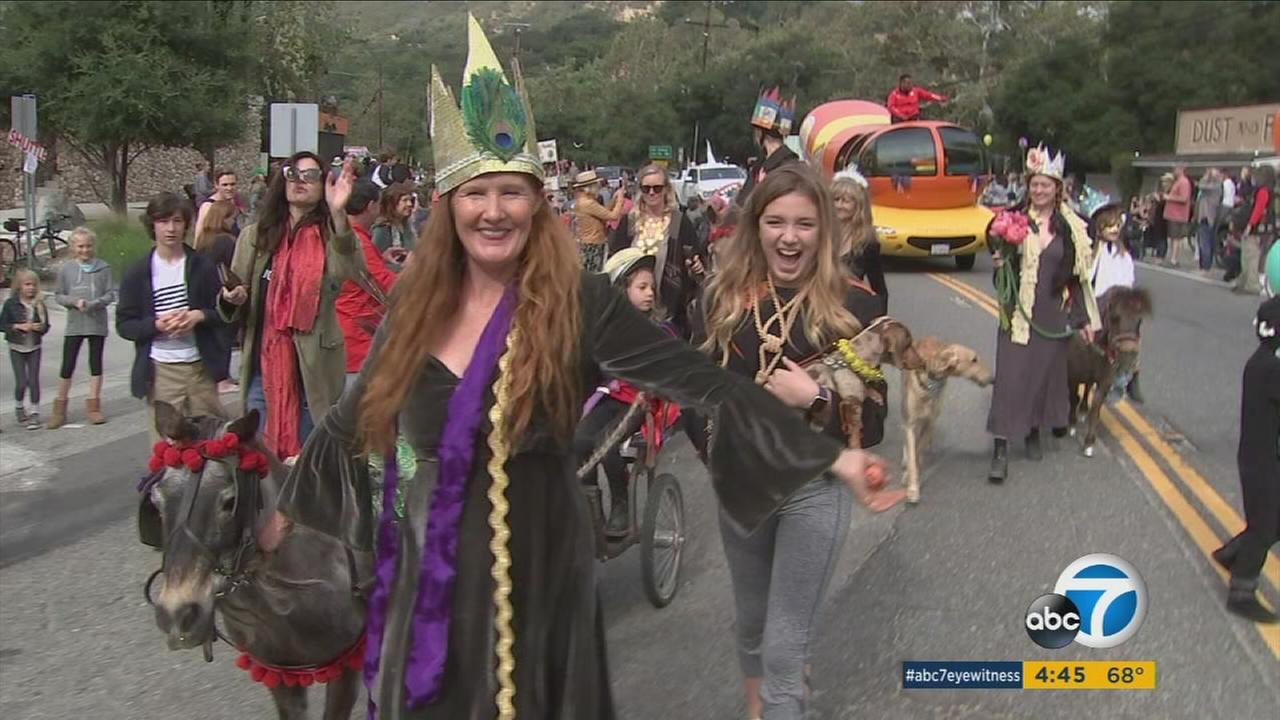 People celebrate Topanga Days and have a memorial march for Memorial Day on Monday, May 27, 2017.