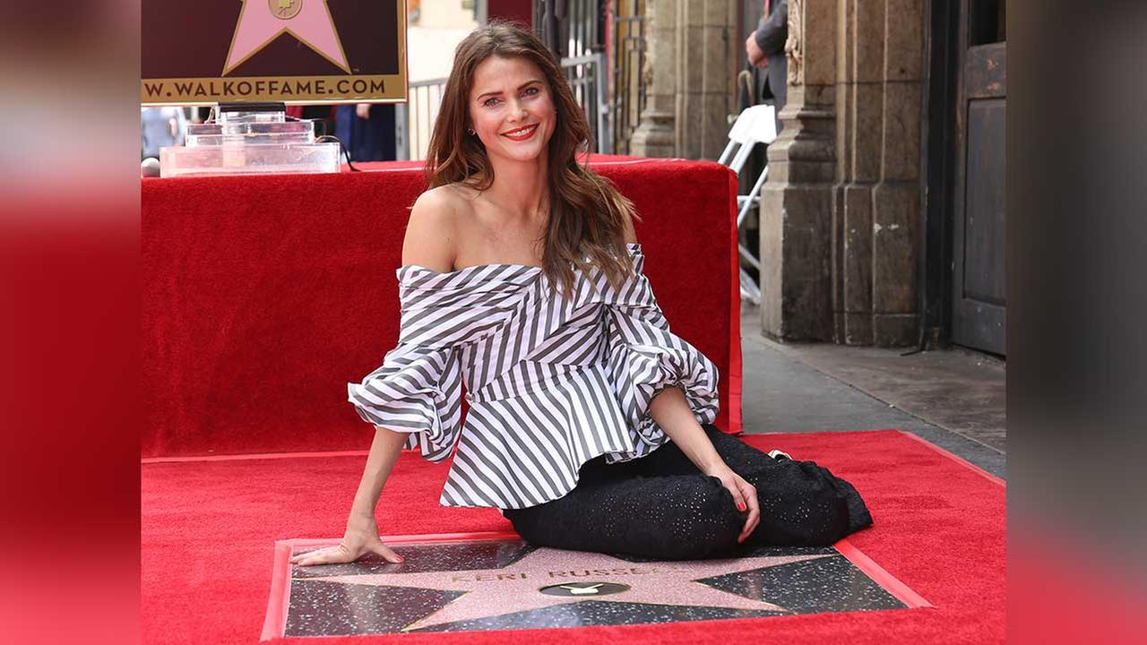 Keri Russell poses at her Star on the Hollywood Walk of Fame ceremony on Tuesday, May 30, 2017, in Los Angeles.