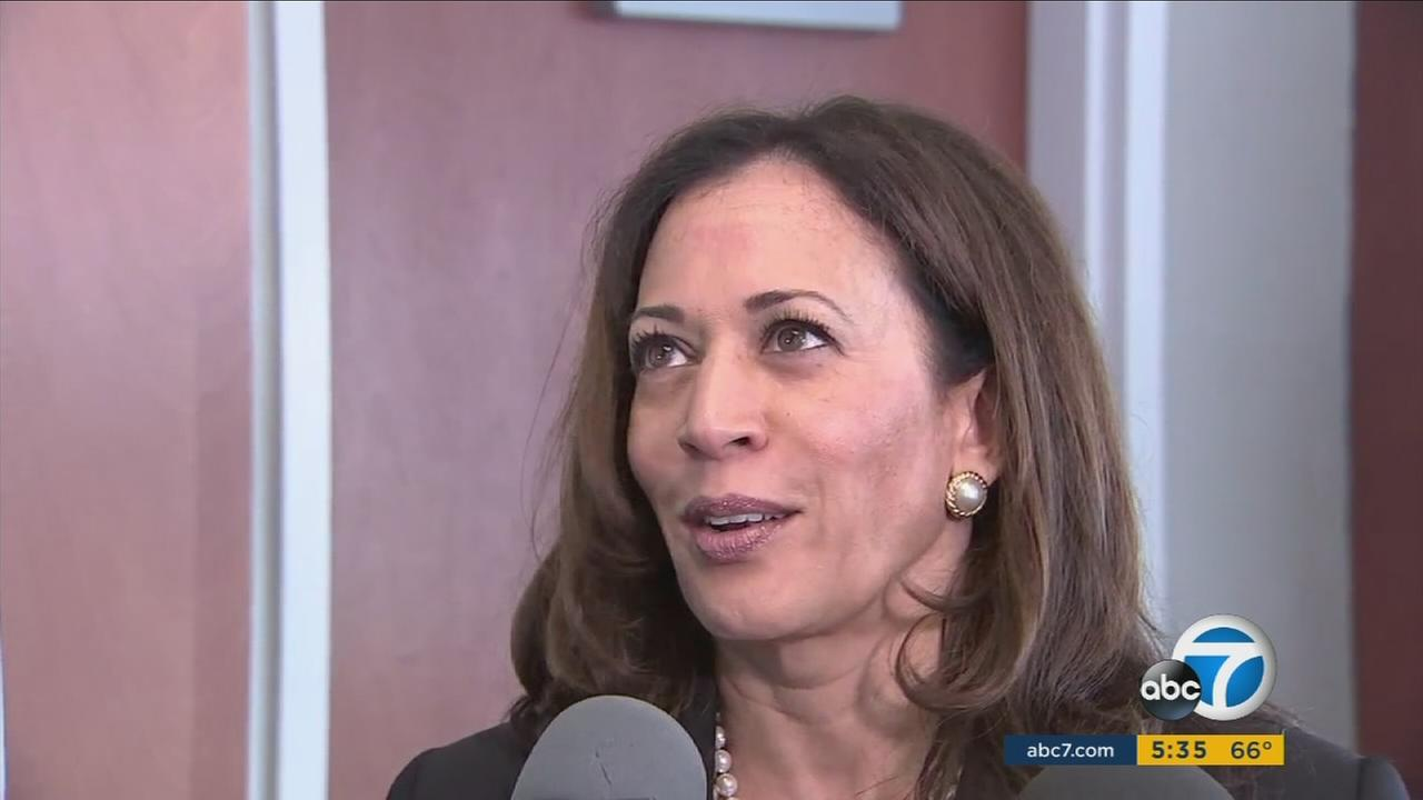 Sen. Kamala Harris, D-Calif., is on a three-day tour of sites in the Los Angeles area that she says are threatened by President Donald Trumps budget and the Republican health care bill.