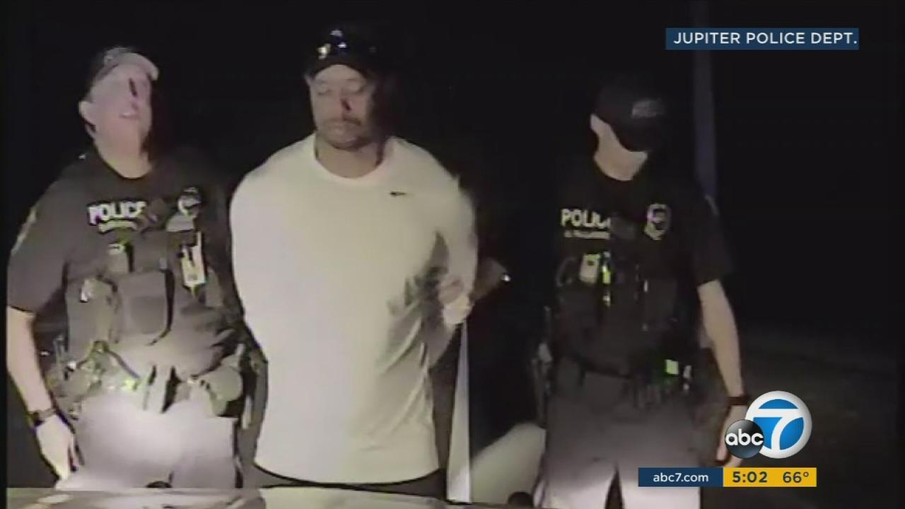 Dashcam video shows the field sobriety test and DUI arrest of Tiger Woods on Monday May 29, 2017 in Jupiter, Fla.