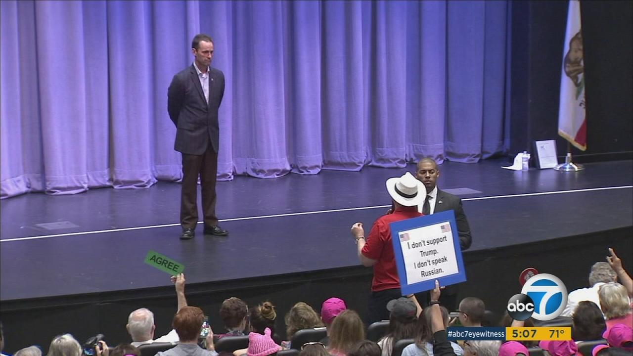 Republican Congressman Steve Knight held a town hall meeting Thursday, June 1, 2017, in Santa Clarita.