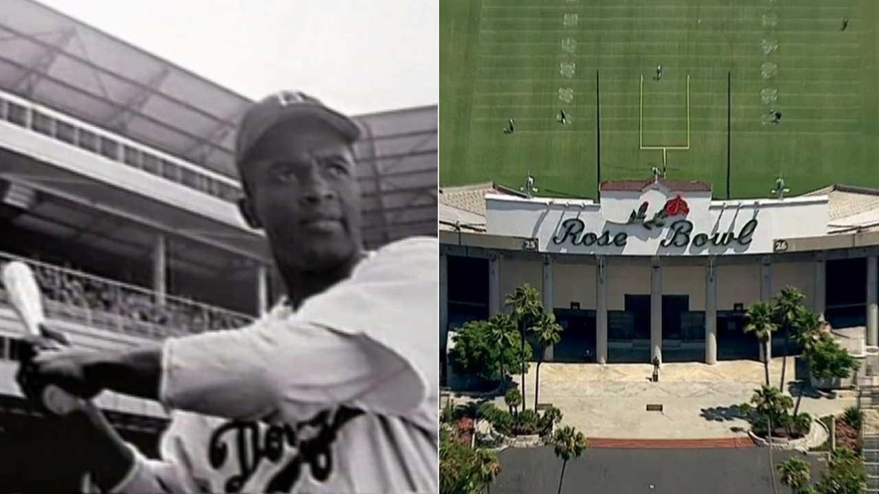 A statue of baseball legend Jackie Robinson is coming to the Rose Bowl in Pasadena.