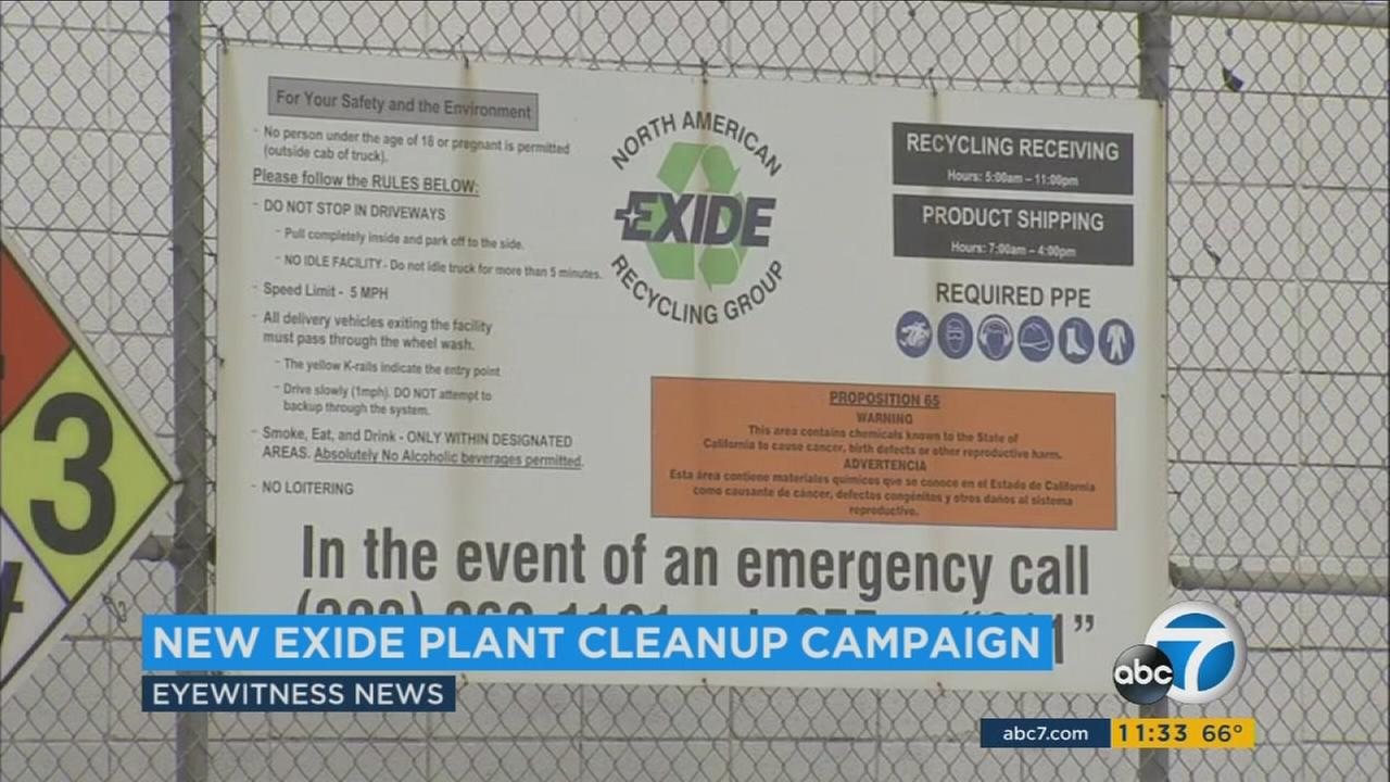 County leaders and community members keep up the pressure as they call for clean-up of toxic pollutants at the old exide battery plant in Vernon and in surrounding neighborhoods.
