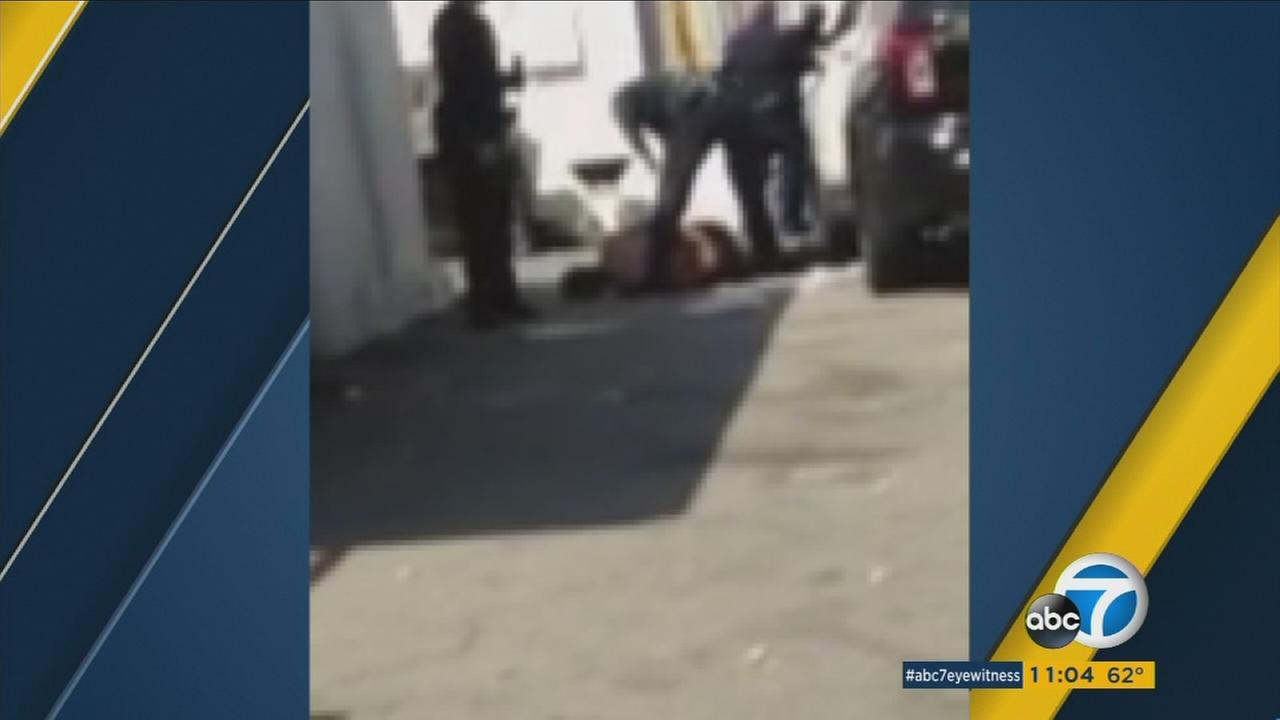 Witness cellphone video shows the aftermath of an officer-involved shooting that left a teen critically injured in El Sereno.