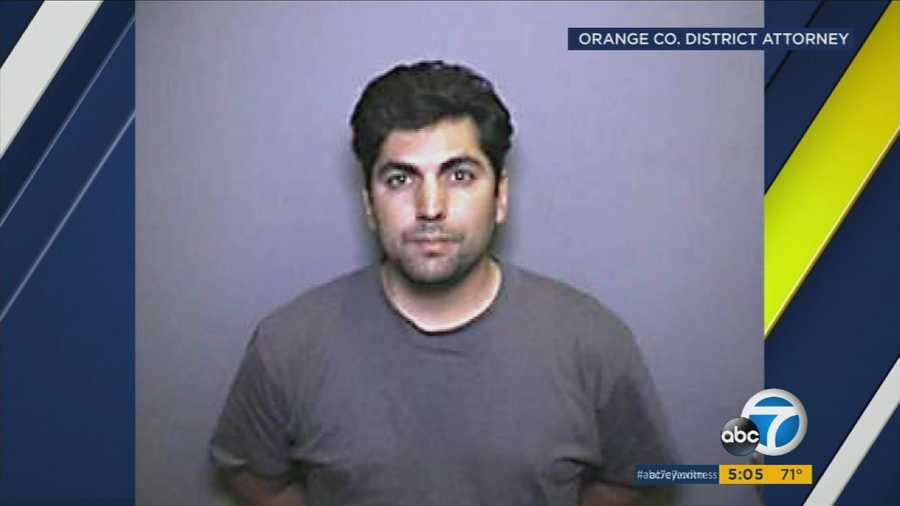 Sean Michael Vasquez, 35, of Los Alamitos, is shown in a mugshot.