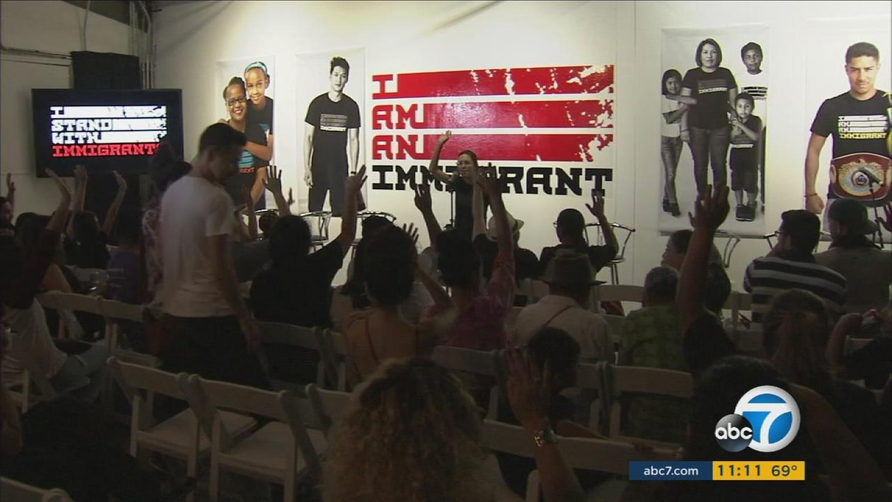 A two-day pop-up event in Los Angeles is celebrating immigrant culture with art, food and dramatic readings.