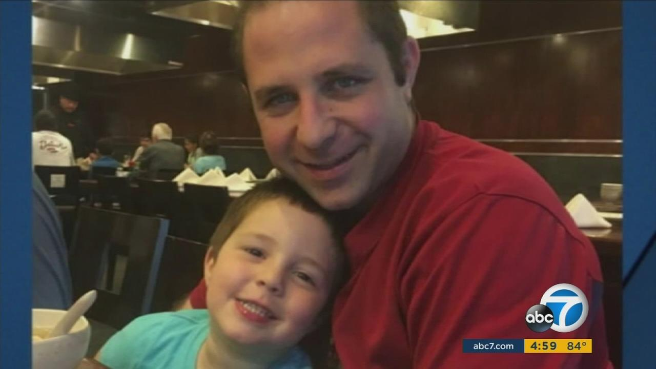 Aramazd Andressian poses with his 5-year-old son, who police believe was killed by his father.
